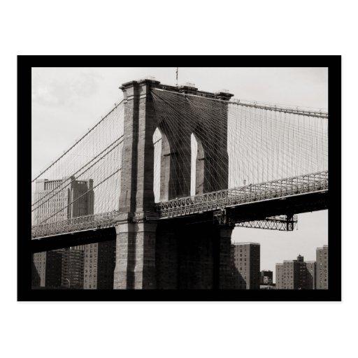 NYC Brooklyn Bridge Closeup Postcards