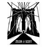 NYC Brooklyn Bridge   Save the Date Postcard