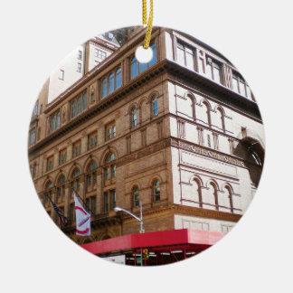 NYC Carnegie Hall Christmas Ornament