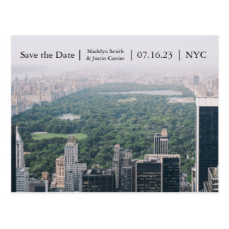 NYC Central Park Photo - Save the Date Post Card