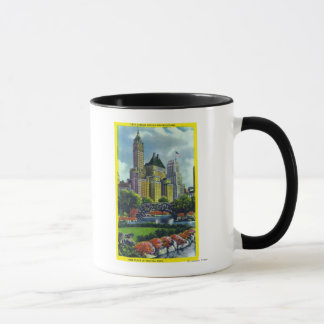NYC Central Park View of 5th Ave Hotels Mug