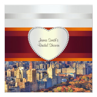 NYC Central Park West H Bridal Shower Invite