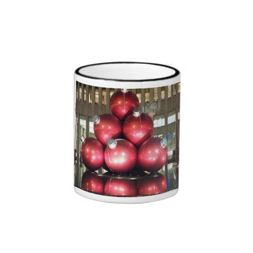 NYC Christmas Ringer Coffee Mug