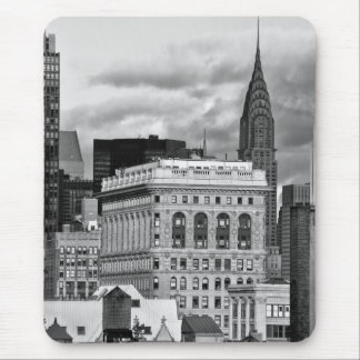NYC: Chrysler Building, Back of Flatiron B&W 001 Mouse Mat