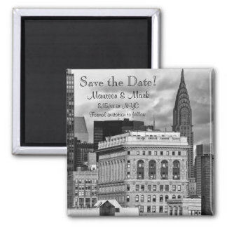 NYC Chrysler Building Flatiron Save the Date Refrigerator Magnets