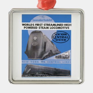 NYC Commodore Vanderbilt Locomotive Christmas Ornament