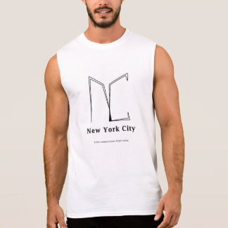 """NYC"" Contemporary Logo Sleeveless Shirt"