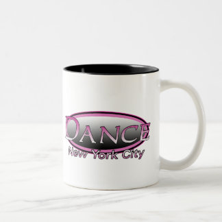 NYC Dance Hot Pink Logo Mug Two Tone Black