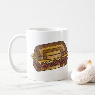 NYC Deli Reuben Sandwich Corned Beef Marble Rye Coffee Mug