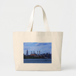 NYC East River Skyline: Skyscrapers & Smokestacks Tote Bags