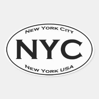 NYC Euro Style Oval Logo Oval Sticker