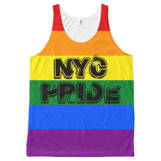 NYC Gay Pride Parade Rainbow Flag Customizable All-Over Print Tank Top