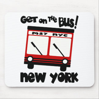 NYC Get On The Bus With Red Hybrid Bus Mouse Pad