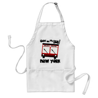 NYC, Get On The Bus With Red Hybrid Bus Standard Apron