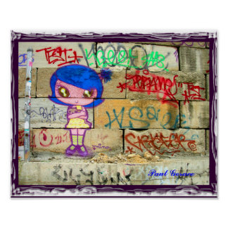 NYC Graffiti Girl Poster