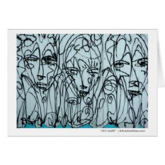 """NYC Graffiti Note Card""  by Brad Hines Card"