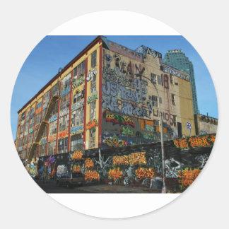 nyc graffiti sick styles classic round sticker