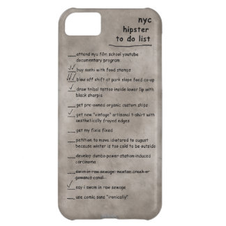 NYC Hipster To Do List iPhone Case iPhone 5C Case