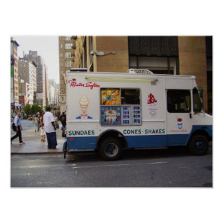 NYC Ice Cream Truck Poster