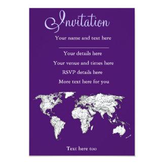 NYC in dark purple 13 Cm X 18 Cm Invitation Card