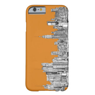 NYC In orange Barely There iPhone 6 Case
