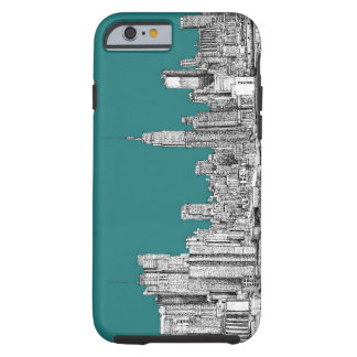 NYC in turquoise green Tough iPhone 6 Case