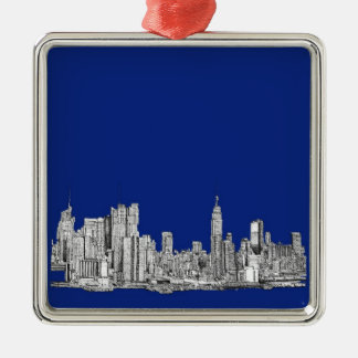 NYC ink royal blue Christmas Ornament