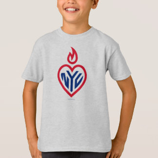 NYC Kids T-Shirt Grey - Gotham Heart