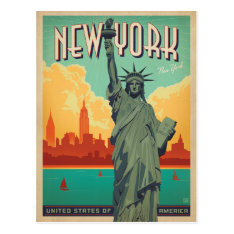 Nyc - Lady Liberty Postcard at Zazzle