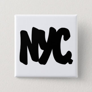 NYC Letters 15 Cm Square Badge