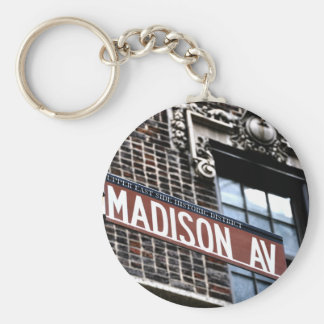 NYC Madison Ave Key Ring