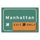 NYC Manhattan Exit Interstate Highway Freeway Road Tissue Paper