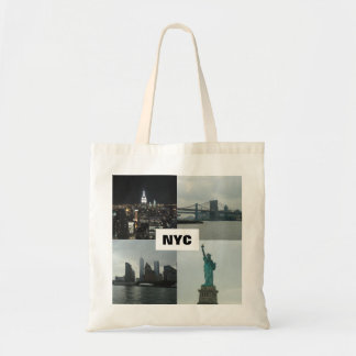 NYC Manhattan Photo Montage Tote Bag