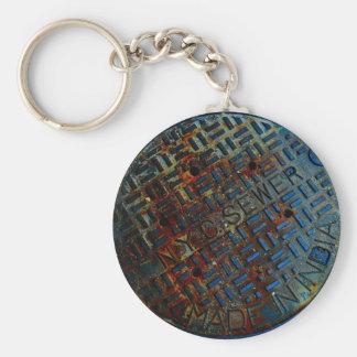 NYC Manhole Cover Key Ring