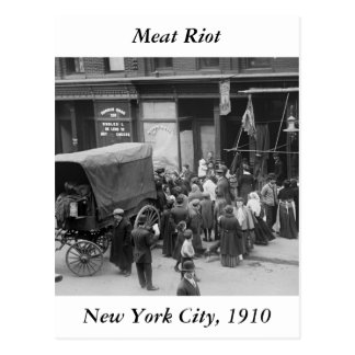 NYC Meat Riot, 1910 Post Cards