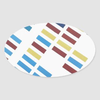 NYC Modern Art Oval Sticker