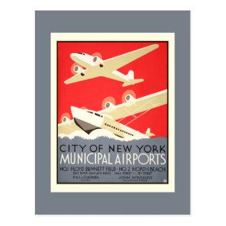 NYC Municipal Airports Postcard