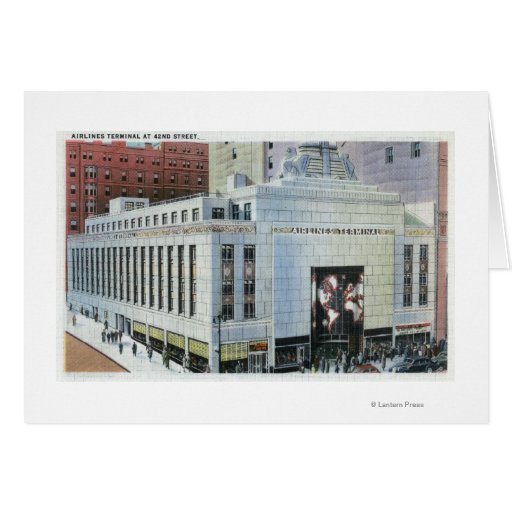 NYC, New York42nd Street View of Terminals Greeting Cards