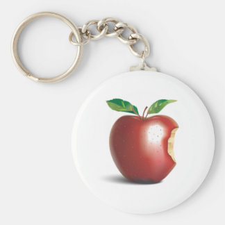 NYC New York City Apple Basic Round Button Key Ring