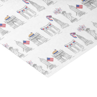 NYC New York City July 4th Patriotic Fireworks USA Tissue Paper