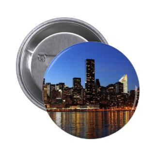 NYC New York City Manhattan Night 6 Cm Round Badge