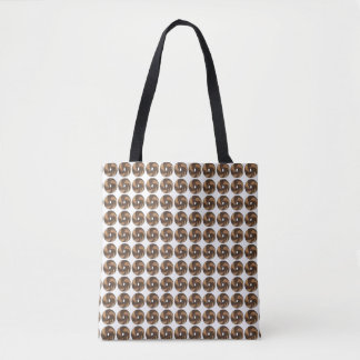 NYC New York City Marble Rye Plain Bagels Tote