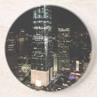 NYC New York City Night Skyline Architecture Light Coaster