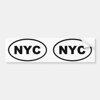 NYC New York City oval Bumper Sticker