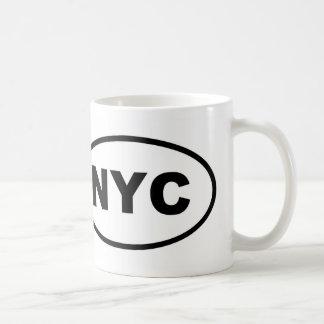 NYC New York City oval Coffee Mug