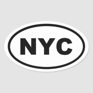 NYC New York City Oval Sticker