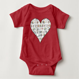 NYC New York City People Citizens Brooklyn Heart Baby Bodysuit
