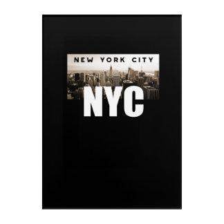 NYC New York City. Skyline. America, USA Acrylic Wall Art