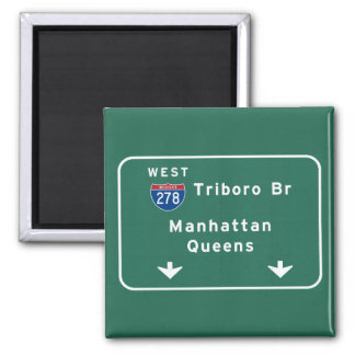 NYC New York City Triboro Br Manhattan Interstate Magnet