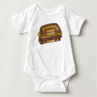 NYC New York Deli Corned Beef Reuben Sandwich Baby Bodysuit